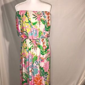 Lilly Pulitzer strapless Maxi dress XXL